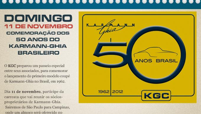 Domingo 11 de Novembro Comemoracao dos 50 anos do karman ghia brasileiro